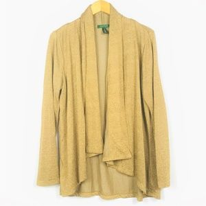 RALPH LAUREN Waterfall Open Cardigan